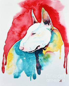 Zaira Dzhaubaeva - White Bull Terrier
