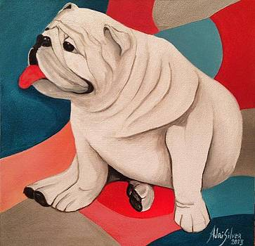 White Bulldog by Adri Silver