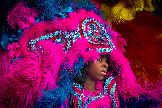 White Cloud Hunters Mardi Gras Indians 2 by Terry Finegan