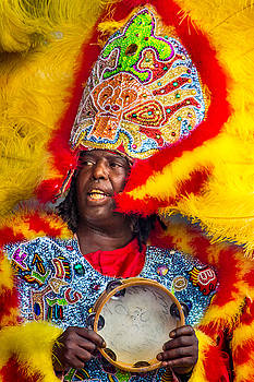 White Cloud Hunters Mardi Gras Indians 3 by Terry Finegan