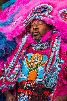 White Cloud Hunters Mardi Gras Indians by Terry Finegan