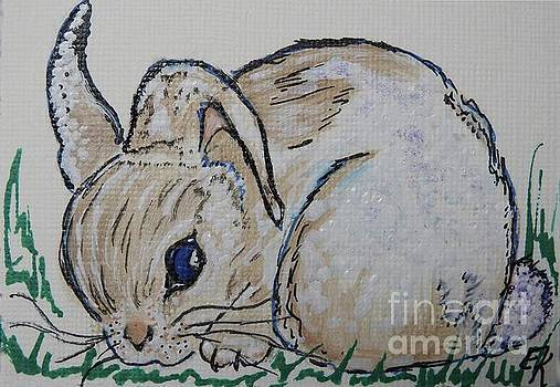 White Cotton-Tail Rabbit #1003 by Ella Kaye Dickey
