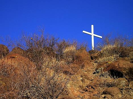 White Cross on a Craggy Hill - 146 by Eve Paludan
