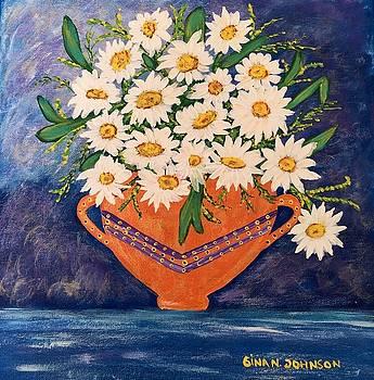 Gina Nicolae Johnson - White daisies
