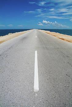 Sami Sarkis - White dividing line marking a road in Cuba