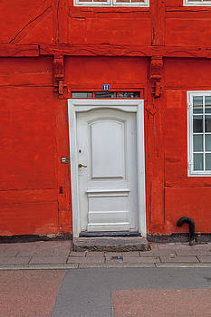 W Chris Fooshee - White Door Red Building in Helsingor