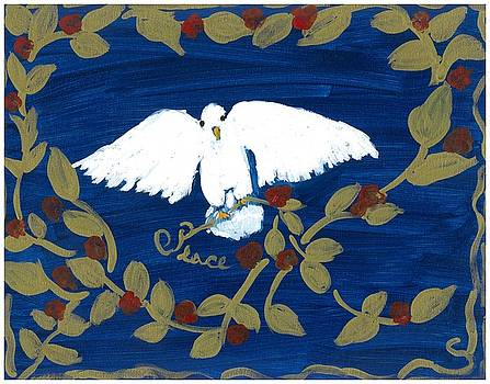 White dove by Rosemary Mazzulla