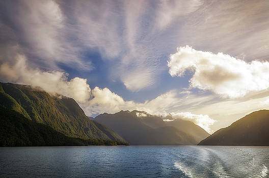 White Dragon Cloud in the Sky at Lake Manapouri by Daniela Constantinescu