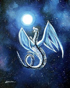Laura Iverson - White Dragon in Midnight Blue