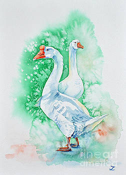 Zaira Dzhaubaeva - White Geese