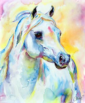 Christy  Freeman - White Horse Portrait