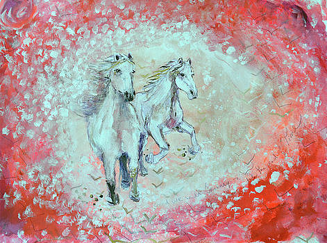 White Horses Journey on Til the Ends of Time by Ashleigh Dyan Bayer