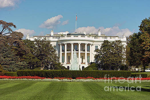 White House South Lawn Washington DC by Kimberly Blom-Roemer