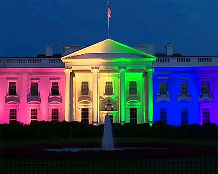 White House Splashed with Rainbow by Christopher Kerby