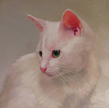 White Kitten by Diane Hoeptner