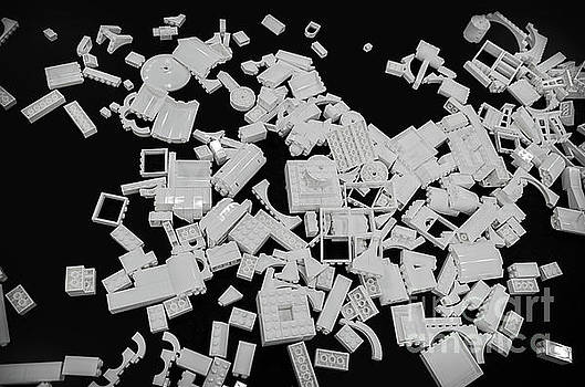 White Lego Abstract by Norma Warden