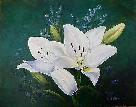 White Lilies by Leda Rabenold