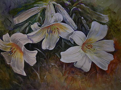 White Lilies by Richard Powell