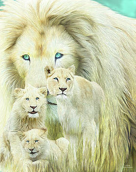 White Lion Family - Forever by Carol Cavalaris