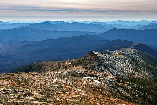 White Mountains Dressed in Blue by Shell Ette