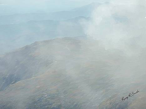 White Mountains in clouds. by Rusty R Smith