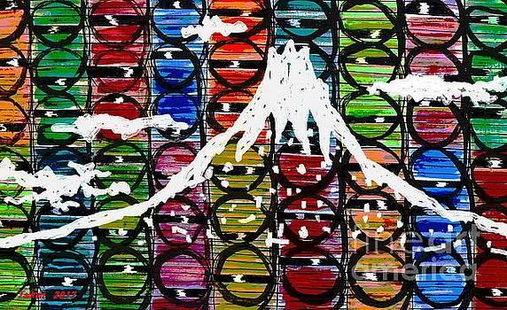 White Mt Fuji by Taikan by Taikan Nishimoto