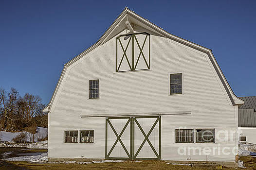 White New England Horse Barn Vermont by Edward Fielding