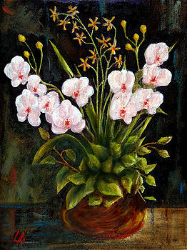 White Orchids by Lance Anderson