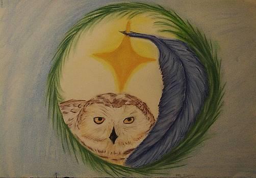 White Owl by Michelle  Thomann-Ramirez
