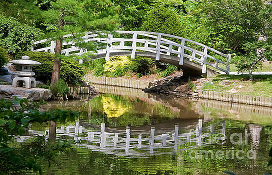 Jill Lang - White Painted Bridge Reflection