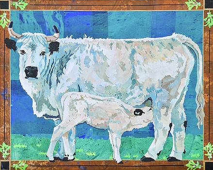 White Park Cow and Calf by Alyson Champ