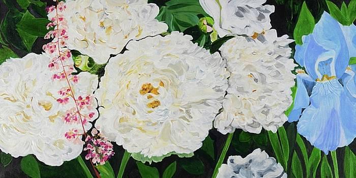 White Peony Garden by Pamela Trueblood