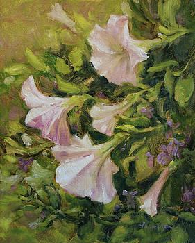 White Petunias by Tracie Thompson