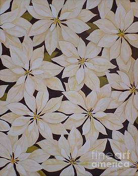 white Poinsettias by Carla Dabney