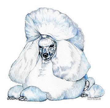 White Poodle by Kathleen Sepulveda