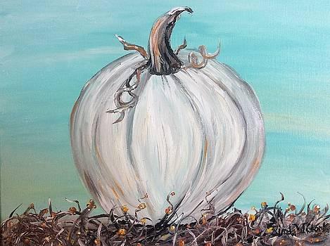 White pumpkin by Linda Clark