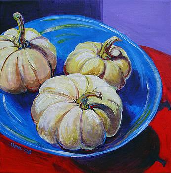 White Pumpkins by Pam Van Londen