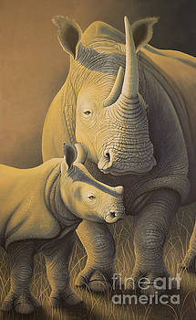 White Rhino Fading into extinction by Tish Wynne