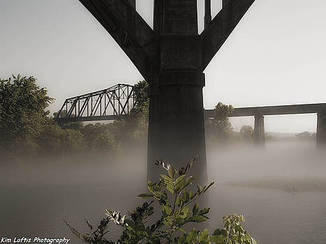 White river fog  by Kim Loftis