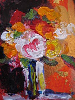 White Rose Floral by Susan Jenkins