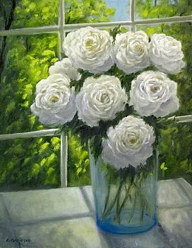 White Roses by Boris Garibyan