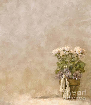 Lois Bryan - White Roses In Old Clay Pot