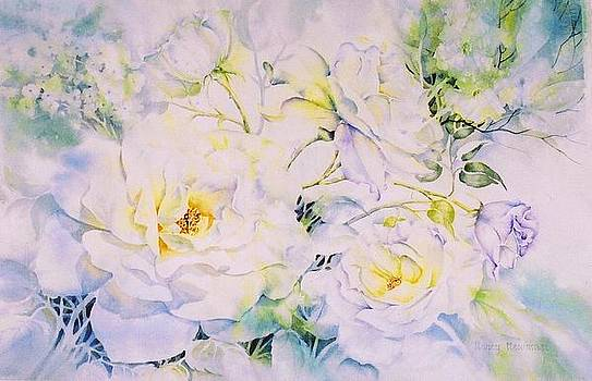 White-Roses by Nancy Newman