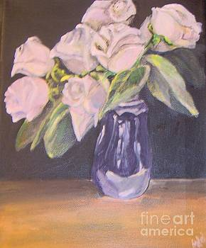 White Roses by Saundra Johnson