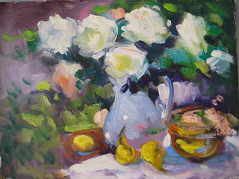 White Roses by Susan Jenkins