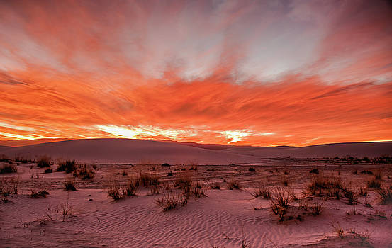 White Sand Sunrise by John Roach