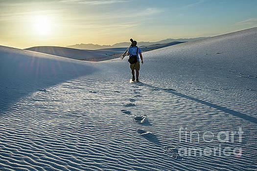 White Sands Hiker by Jamie Pham