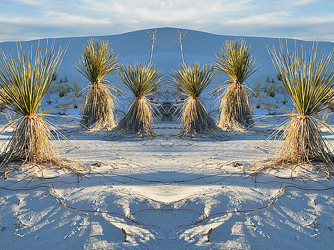White Sands New Mexico Mirror by Kyle Hanson