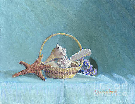 Candace Lovely - White Shells on Blue