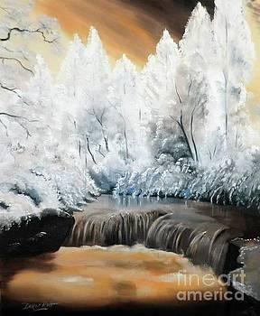 Derek Rutt - White Snow Under An Orange Sky